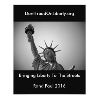 Holen von Freiheit zu den Straßen 11,4 X 14,2 Cm Flyer