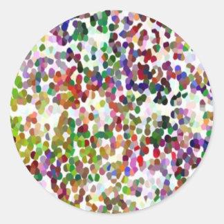 HOLI - Festival von Farben - eleganter Runder Aufkleber