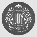 HOLIDAY CHRISTMAS CHALK ART ORNAMENT STICKERS