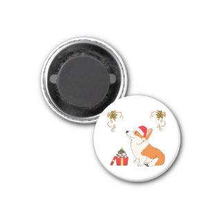 HolidayWelsh Corgi-Cartoon Runder Magnet 2,5 Cm