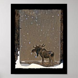 Holilday Elche im Schnee Plakate
