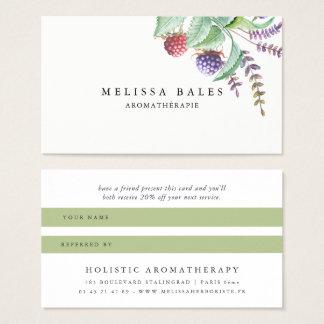 Holistische Aromatherapist Bio Visitenkarte