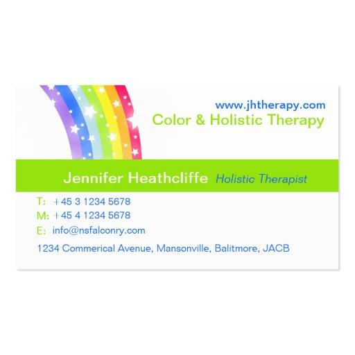 Holistische Farbtherapie-FirmenVisitenkarte Visitenkartenvorlage