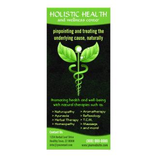 Holistischer Alternativmedizin-GrünCaduceus Bedruckte Werbekarten