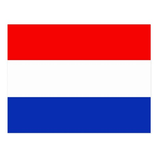 Holland-Flagge Postkarte