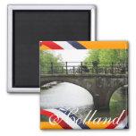 Holland-Kanal-Brücken-Orangen-Kühlschrankmagnet