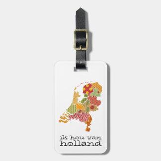 Holland-Provinz-Karten-böhmische Patchwork-Art Gepäckanhänger