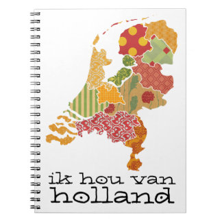 Holland Province Map Bohemian Patchwork Style