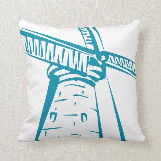 Holland-Windmühle im Blau Kissen