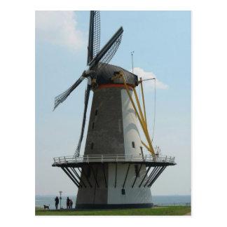 Holland-Windmühle in Zeeland, die Niederlande Postkarte
