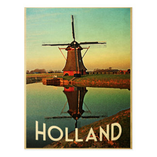 Holland-Windmühle Postkarte