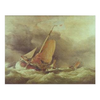 Holländer Pincks, das läuft, um weg von Yarmouth Postkarte