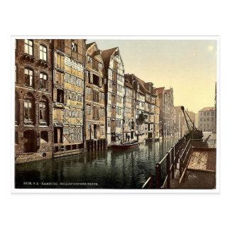 Hollandischer Bach, Klassiker Phot Hamburgs, Postkarte