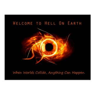 Hölle auf Erden Postkarte