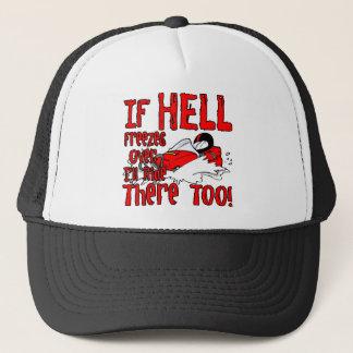 Hölle friert vorbei ein truckerkappe