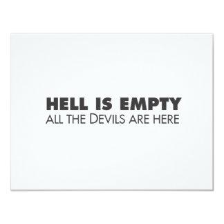 Hölle ist leer personalisierte ankündigungskarte