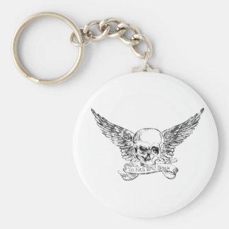 Hölle und Rückseite Schlüsselanhänger