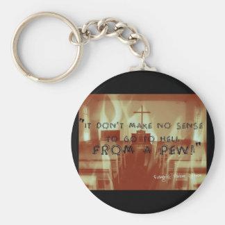 Hölle von einem Bank-Knopf Schlüsselanhänger