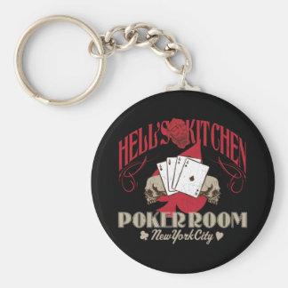 Höllen-Küchen-Poker-Raum, New York City Keychain Schlüsselanhänger