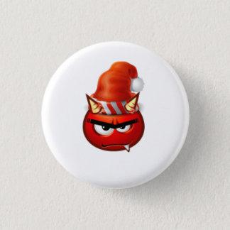 Höllenjungen-Weihnachtsgesicht lustig Runder Button 2,5 Cm