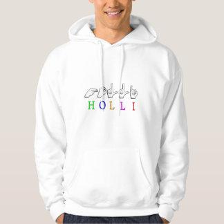 HOLLI FINGERSPELLED NAMENSzeichen Hoodie