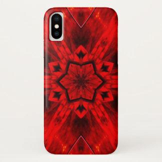 Höllischer Flammen-Dämon-Stern-Mandala-Kasten iPhone X Hülle