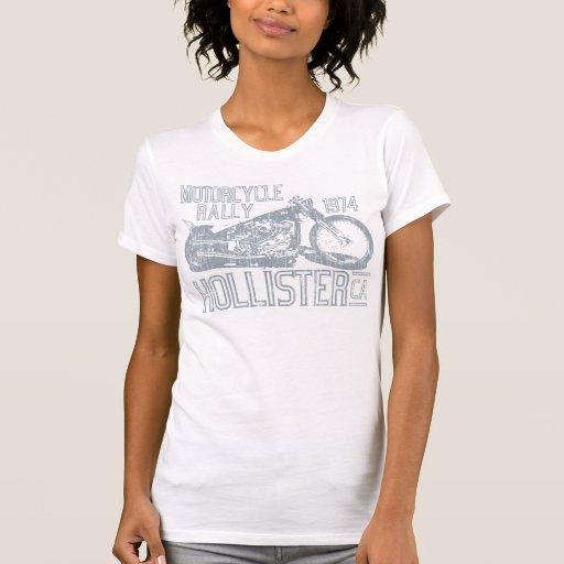 Hollister-Motorrad-Kundgebung (Vintager Schiefer) Shirts
