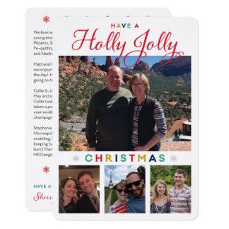 Holly Jolly Kronlage Karte