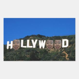 Hollywood-Aufkleber Rechteckiger Aufkleber