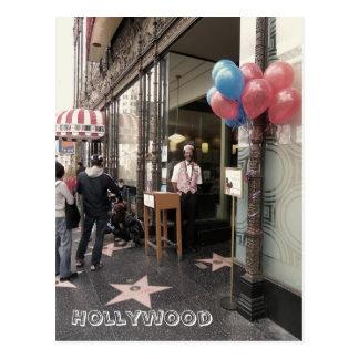 Hollywood-Boulevard. Postkarte! Postkarte
