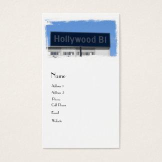 Hollywood-Boulevard Visitenkarte