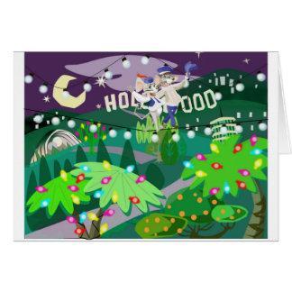 Hollywood-Feiertage Karte