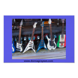 Hollywood-Gitarren Poster