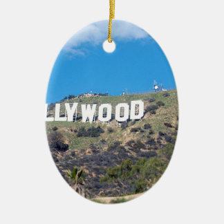 Hollywood Hills Ovales Keramik Ornament