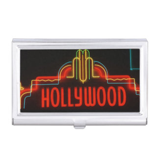Hollywood-Leuchtreklame, Los Angeles, Kalifornien Visitenkarten Etui
