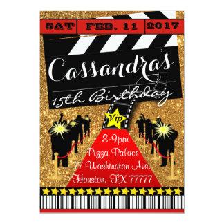 Hollywood Party, Hollywood Geburtstags Einladung 12,7 X 17,8