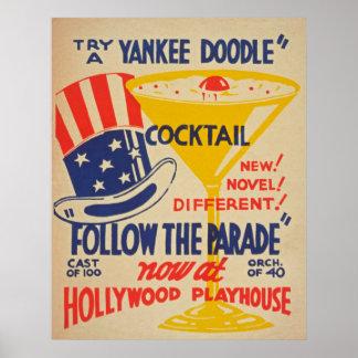 Hollywood-Schauspielhaus-Vintages Plakat