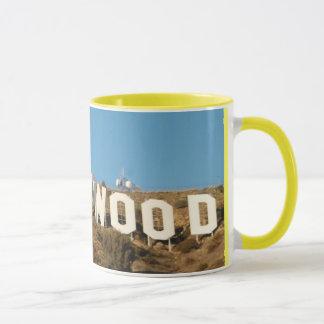 Hollywood-Zeichengelb-Tasse striped! Tasse