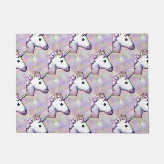 Hologramm-Einhorn emoji Fußmatten-Türmatte Türmatte