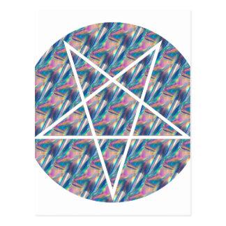 Hologramm Pentagram Postkarte