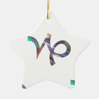Hologramm Steinbock Keramik Ornament