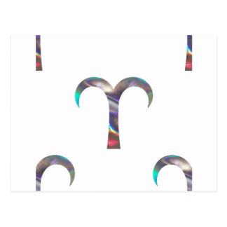 Hologramm Widder Postkarte