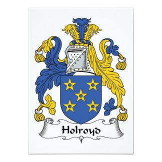 Holroyd Familienwappen 12,7 X 17,8 Cm Einladungskarte