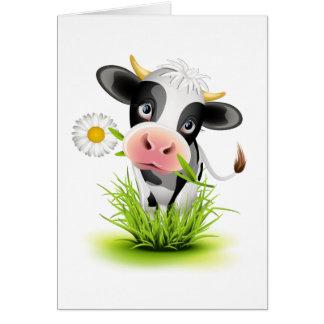 Holstein-Kuh im Gras Karten