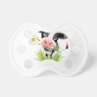 Holstein-Kuh im Gras Schnuller