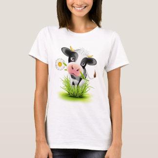 Holstein-Kuh im Gras T-Shirt