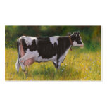 Holstein-Milchkuh: Öl-Pastellmalerei: Bauernhof Visitenkarten