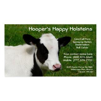 Holstein-Milchkuh-Vieh-Ranch-Visitenkarte Visitenkarten