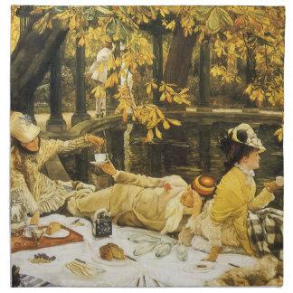 Holyday, das Picknick durch James Tissot, Stoffserviette