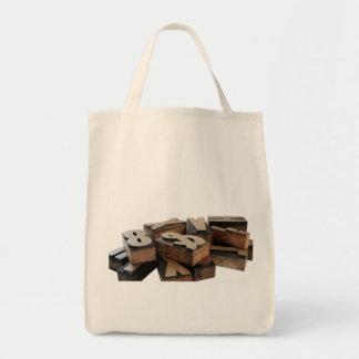 Holz beschriftet tragetasche